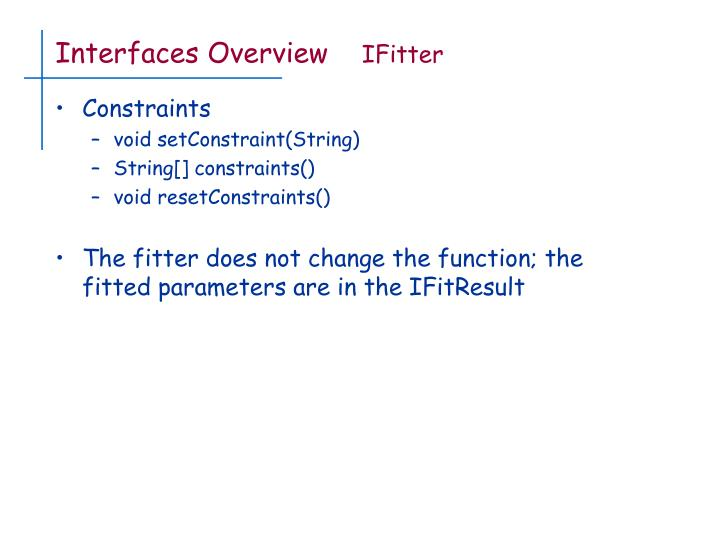 Interfaces Overview