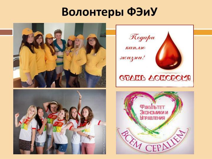 Волонтеры ФЭиУ