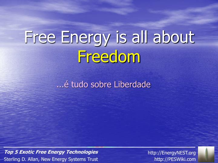 Free Energy is all about