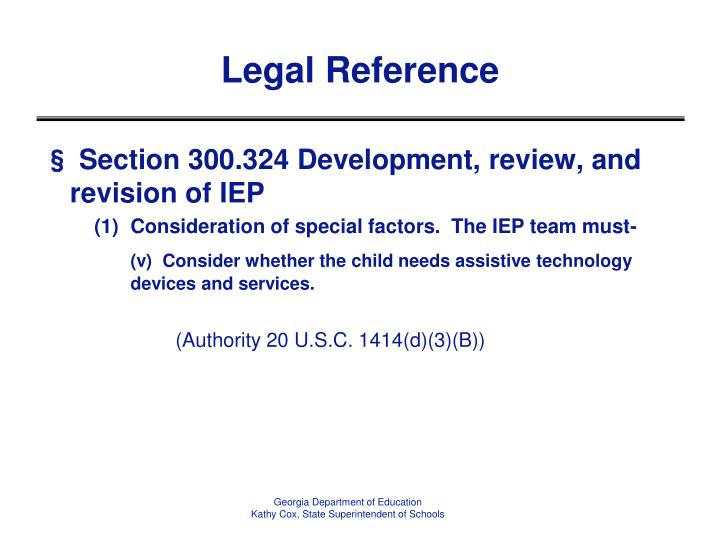 Legal reference