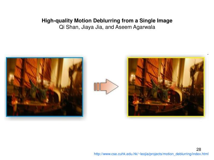 High-quality Motion Deblurring from a Single Image