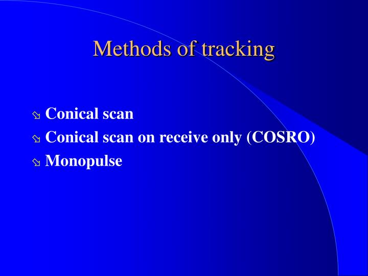 Methods of tracking