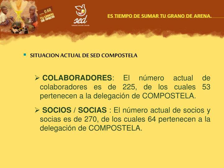 SITUACION ACTUAL DE SED COMPOSTELA