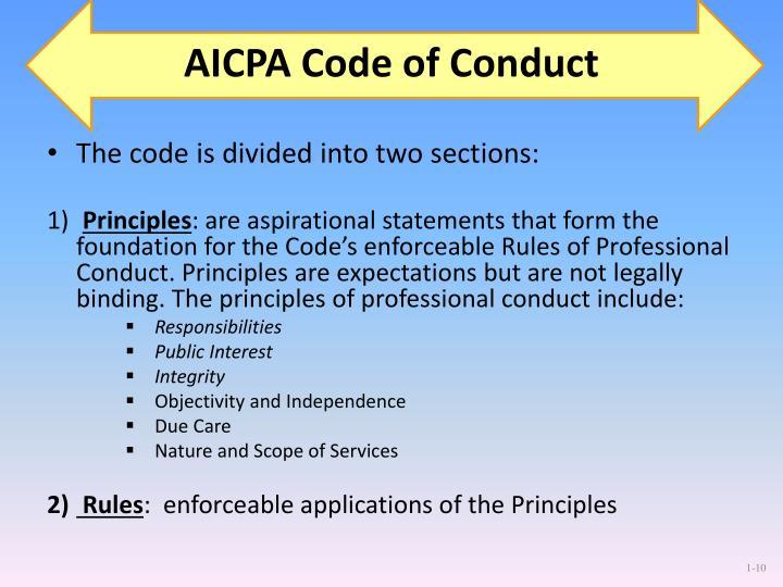 AICPA Code of Conduct