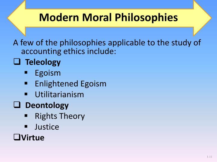 Modern Moral Philosophies