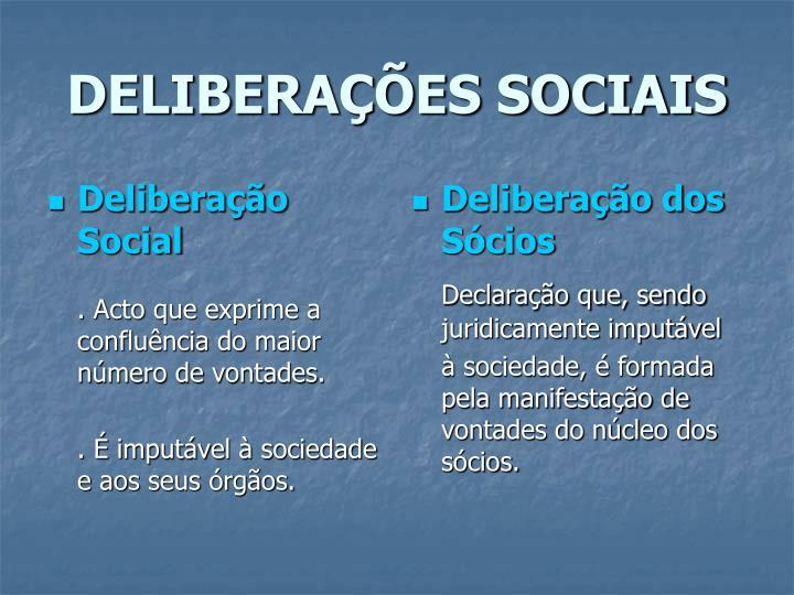Deliberação Social