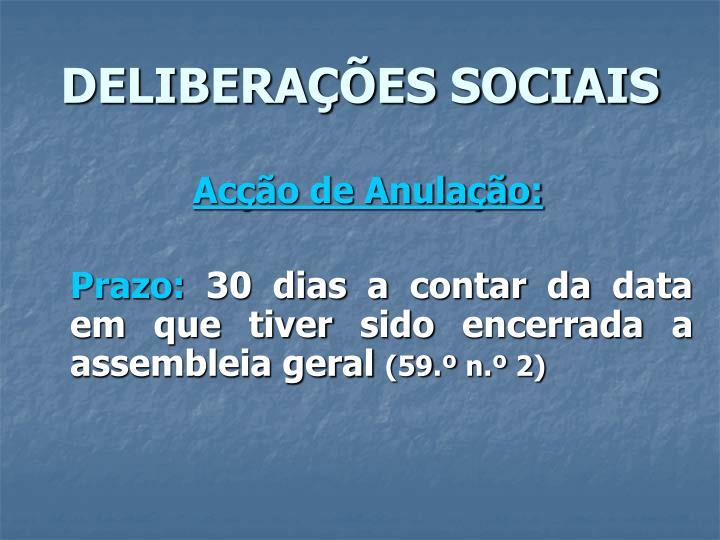 DELIBERAÇÕES SOCIAIS