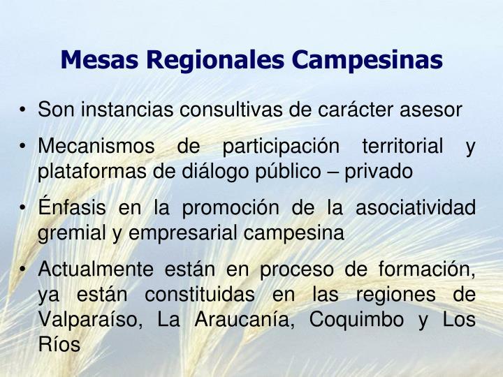 Mesas Regionales Campesinas