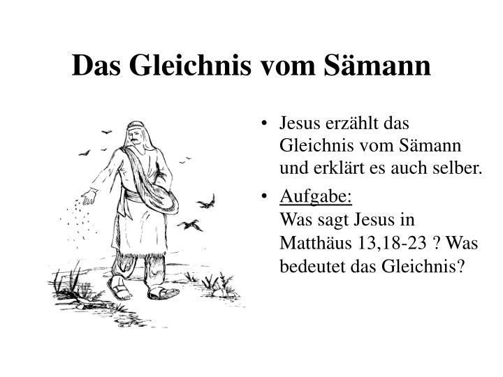 PPT - Die Gleichnisse Jesu PowerPoint Presentation - ID