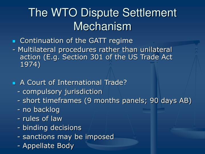 dispute settlement mechanism of wto pdf
