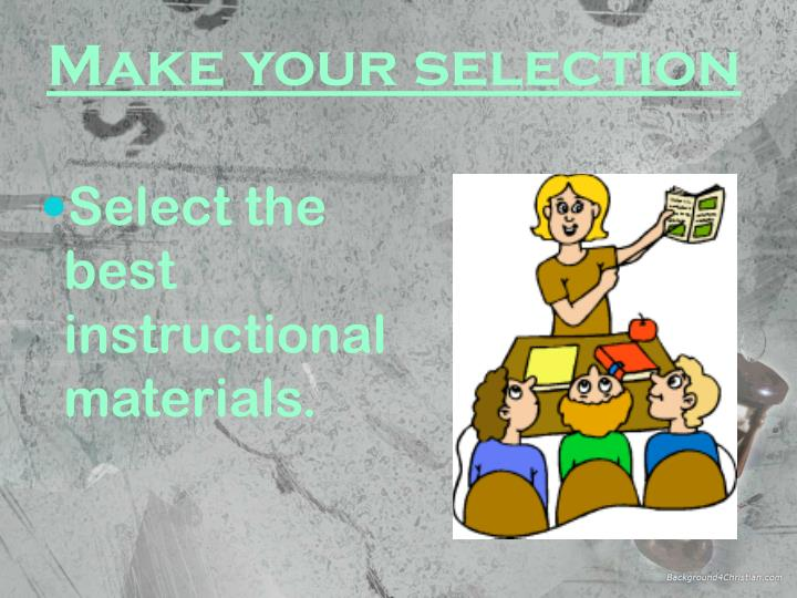 Ppt Guidelines In The Selection Of Instructional Materials