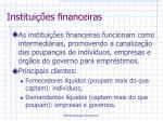 institui es financeiras
