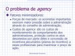 o problema de agency1