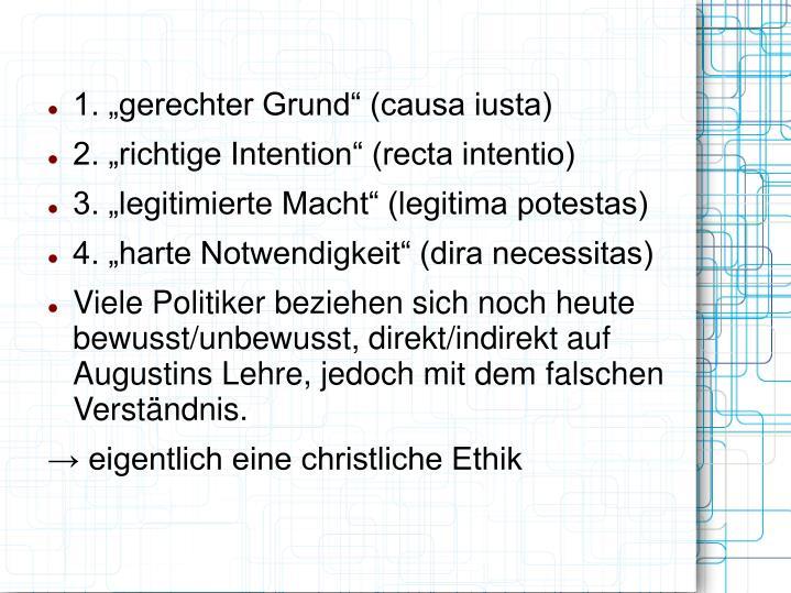 """1. """"gerechter Grund"""" (causa iusta)"""