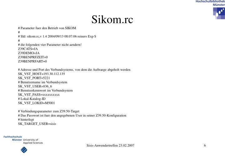 Sikom.rc