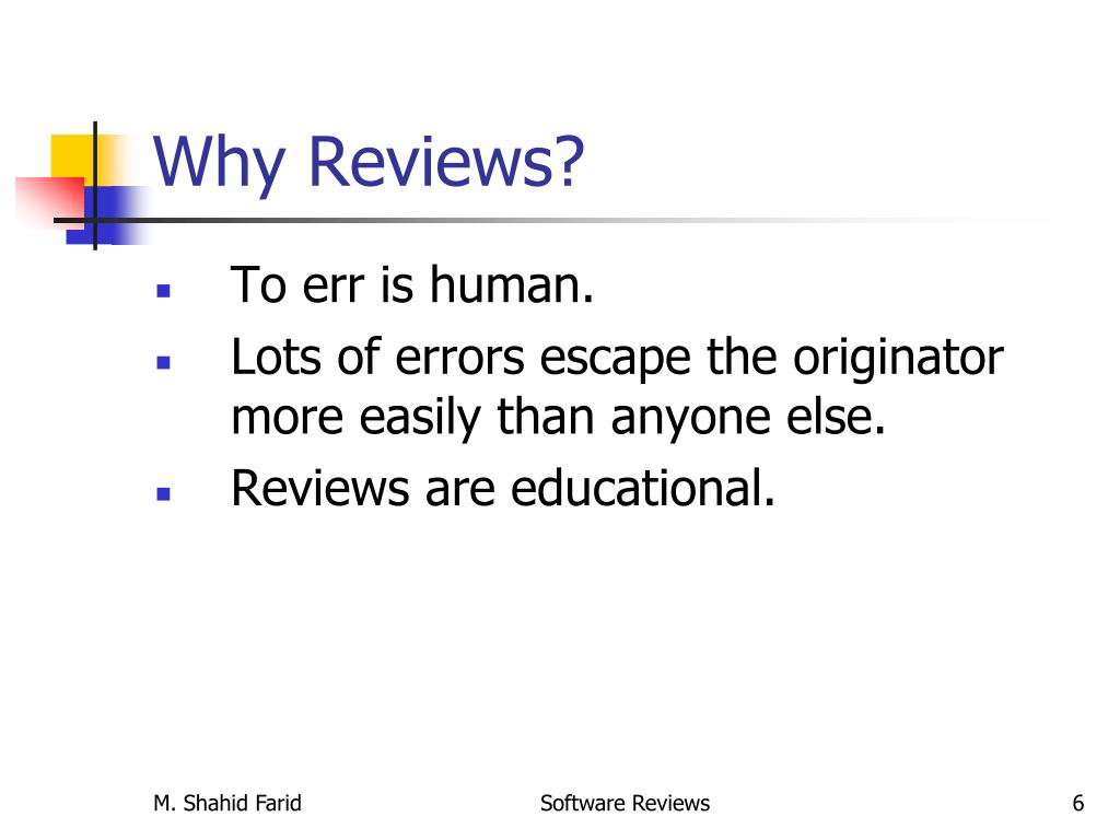 PPT - Software Reviews PowerPoint Presentation - ID:3897305