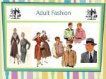 adult fashion
