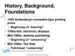 history background foundations