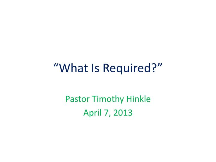 what is required n.