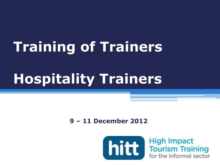 training of trainers hospitality trainers n.