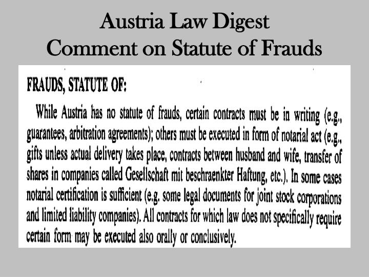 Austria Law Digest