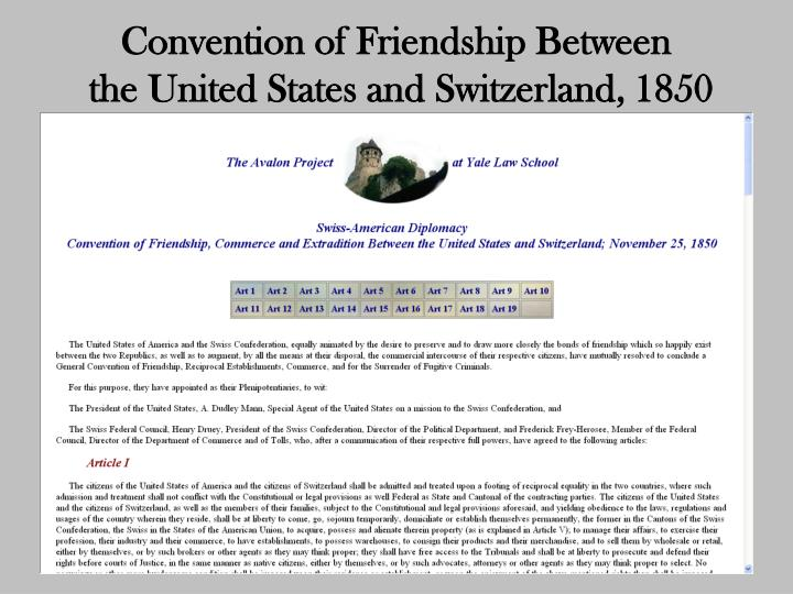 Convention of Friendship Between