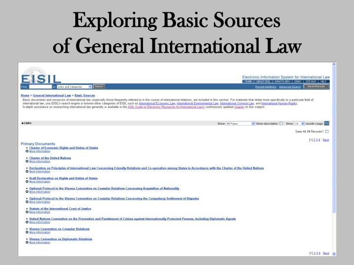 Exploring Basic Sources