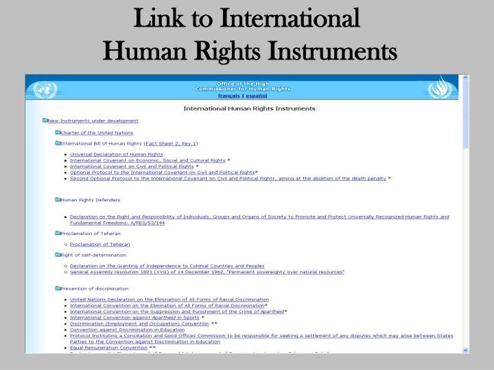 Link to International