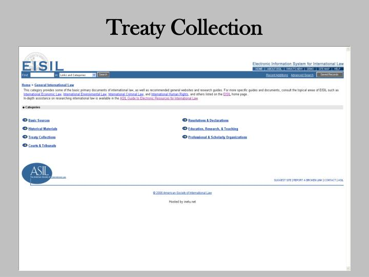 Treaty Collection