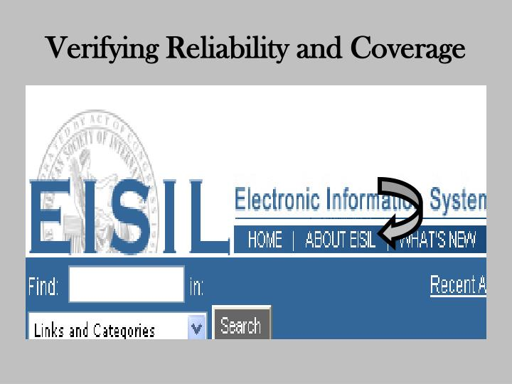 Verifying Reliability and Coverage