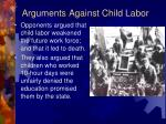 arguments against child labor