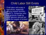 child labor still exists