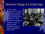 minimum wage limited age