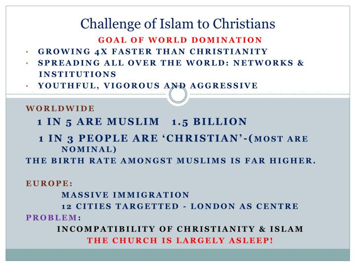 Challenge of Islam to Christians