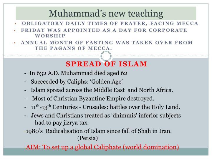 Muhammad's new teaching