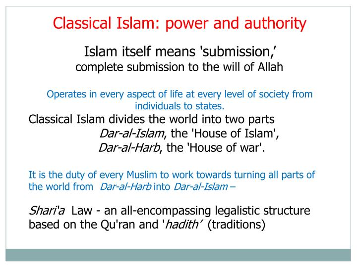 Classical Islam: power and authority
