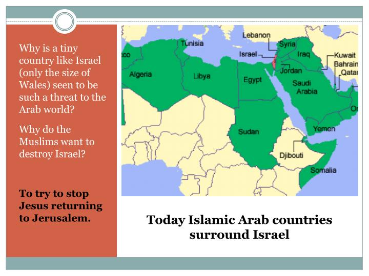 Why is a tiny country like Israel (only the size of Wales) seen to be such a threat to the Arab world?