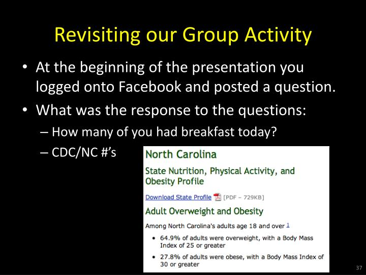 Revisiting our Group Activity