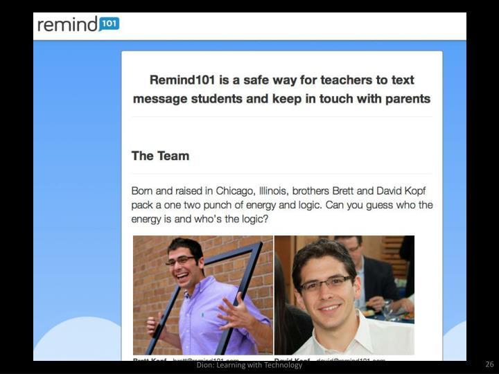 Dion: Learning with Technology