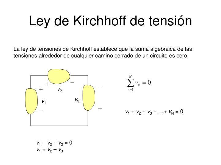 Ley de Kirchhoff de tensión