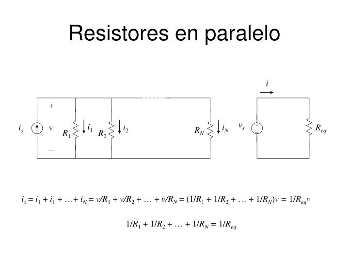 Resistores en paralelo