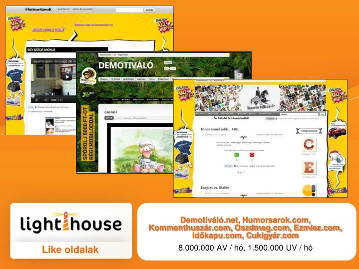 Demotiváló.net, Humorsarok.com,