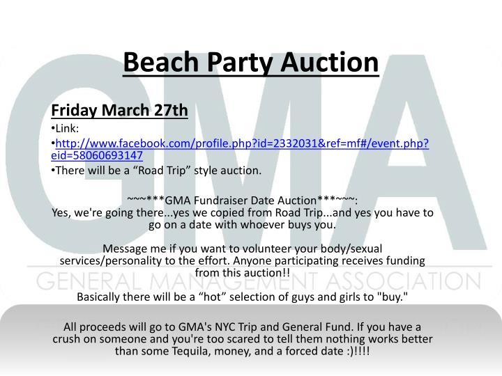 Beach Party Auction