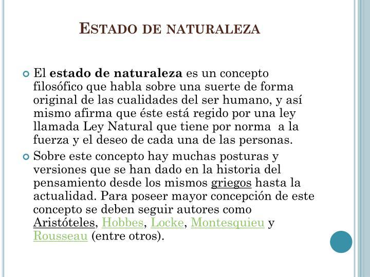 Estado de naturaleza