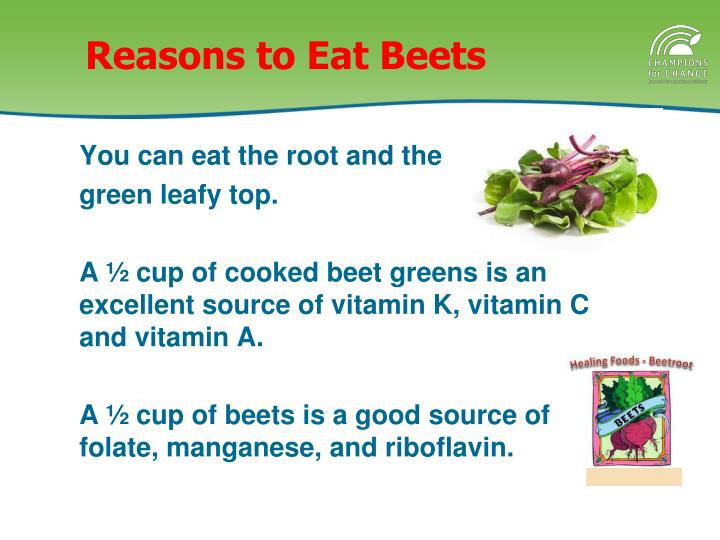 Reasons to eat beets