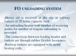 fo unloading system