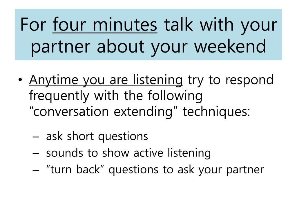 PPT - Extending Conversations PowerPoint Presentation - ID:3898873