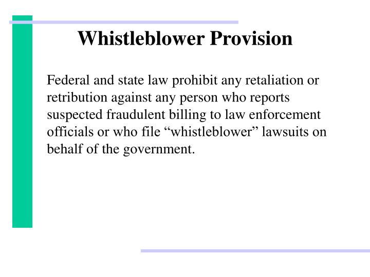 Whistleblower Provision