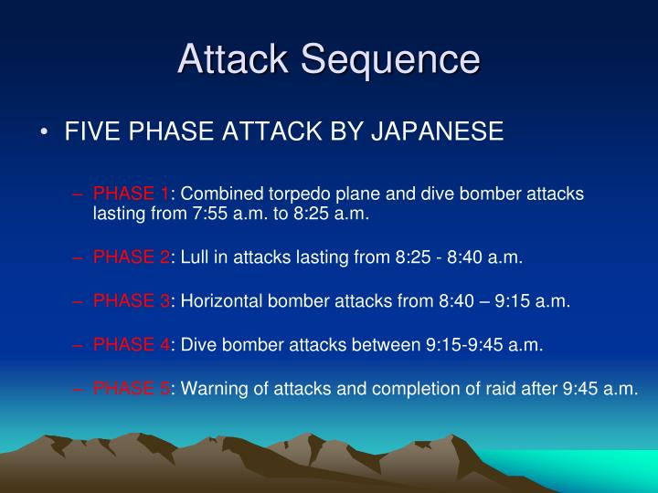 Attack Sequence
