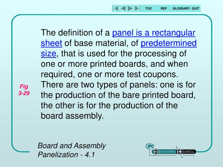 Board and assembly panelization 4 1
